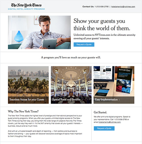 The New York Times - Kevin Oleary Web Design